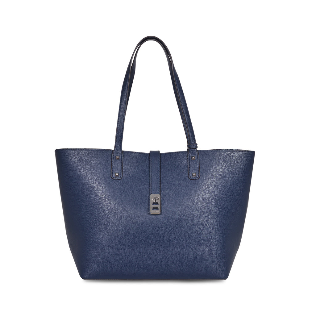 32c8f65cb4bb MICHAEL KORS KARSON LARGE NAVY LEATHER CARRY-ALL TOTE BAG – Galleria ...