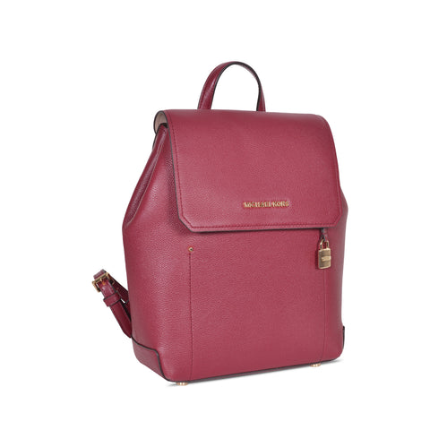 MICHAEL KORS HAYES LEATHER MEDIUM MULBERRY  BACKPACK