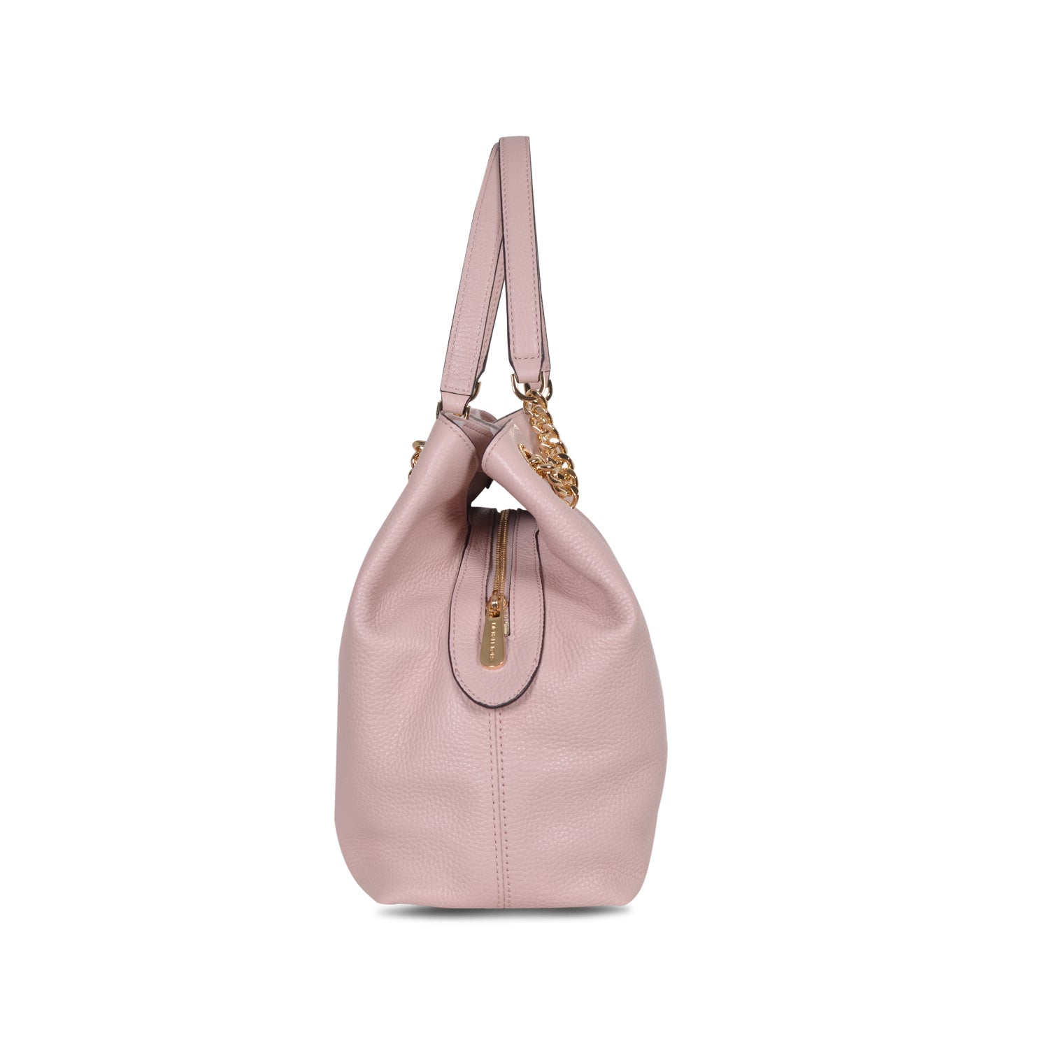 MICHAEL KORS JET SET LARGE PINK BLOSSOM LEATHER SHOULDER TOTE BAG