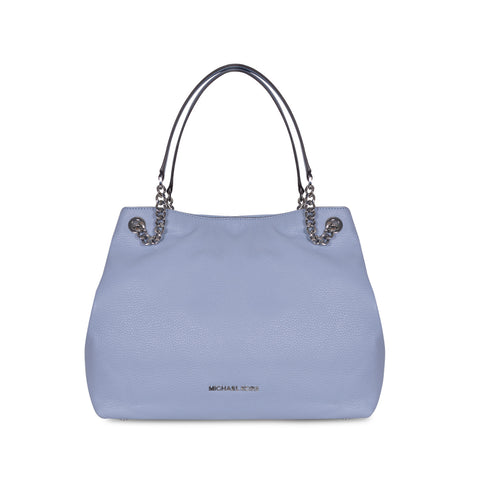 b5b24693fa3e MICHAEL KORS JET SET LARGE PALE BLUE LEATHER SHOULDER TOTE BAG ...
