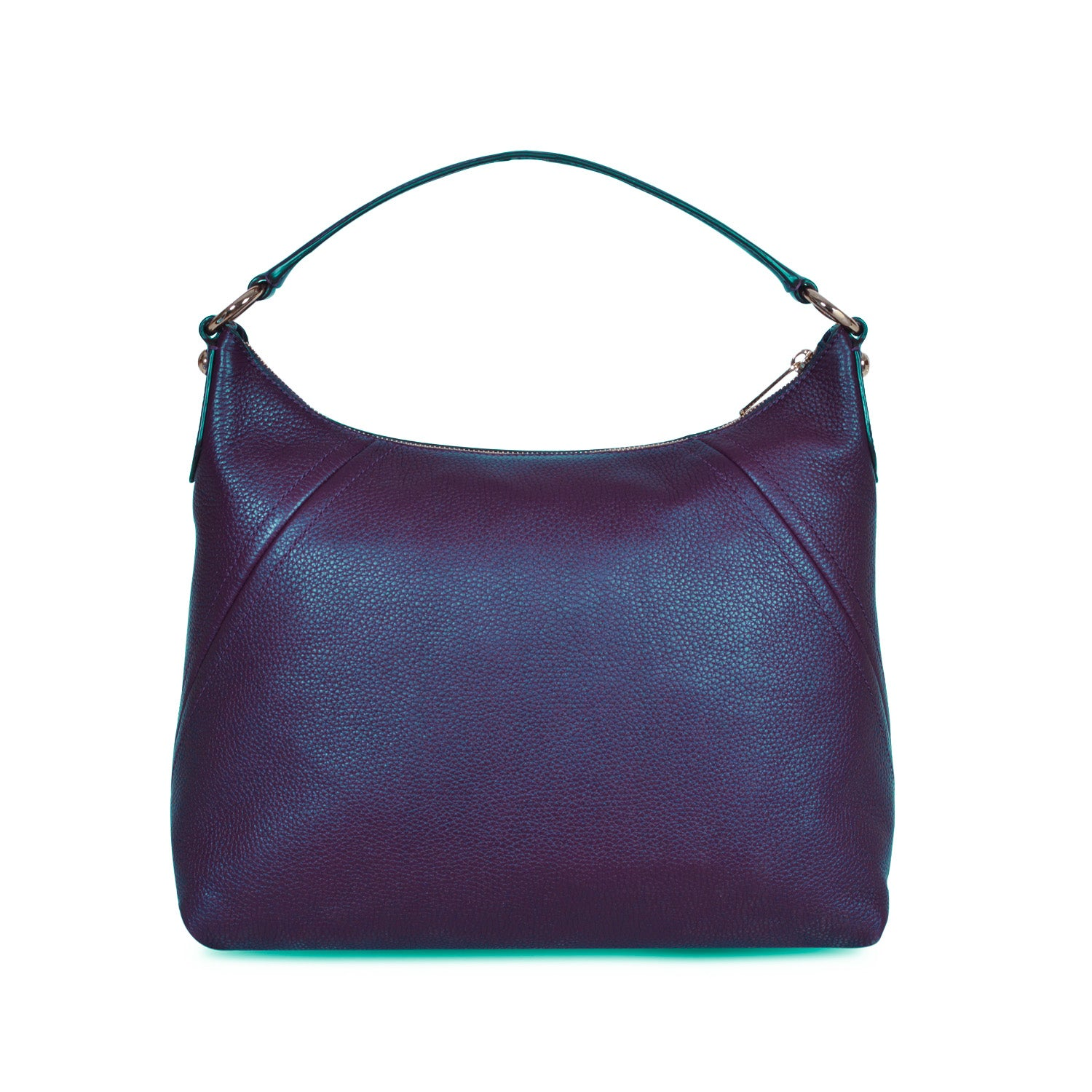MICHAEL KORS ARIA NAVY LEATHER SHOULDER BAG