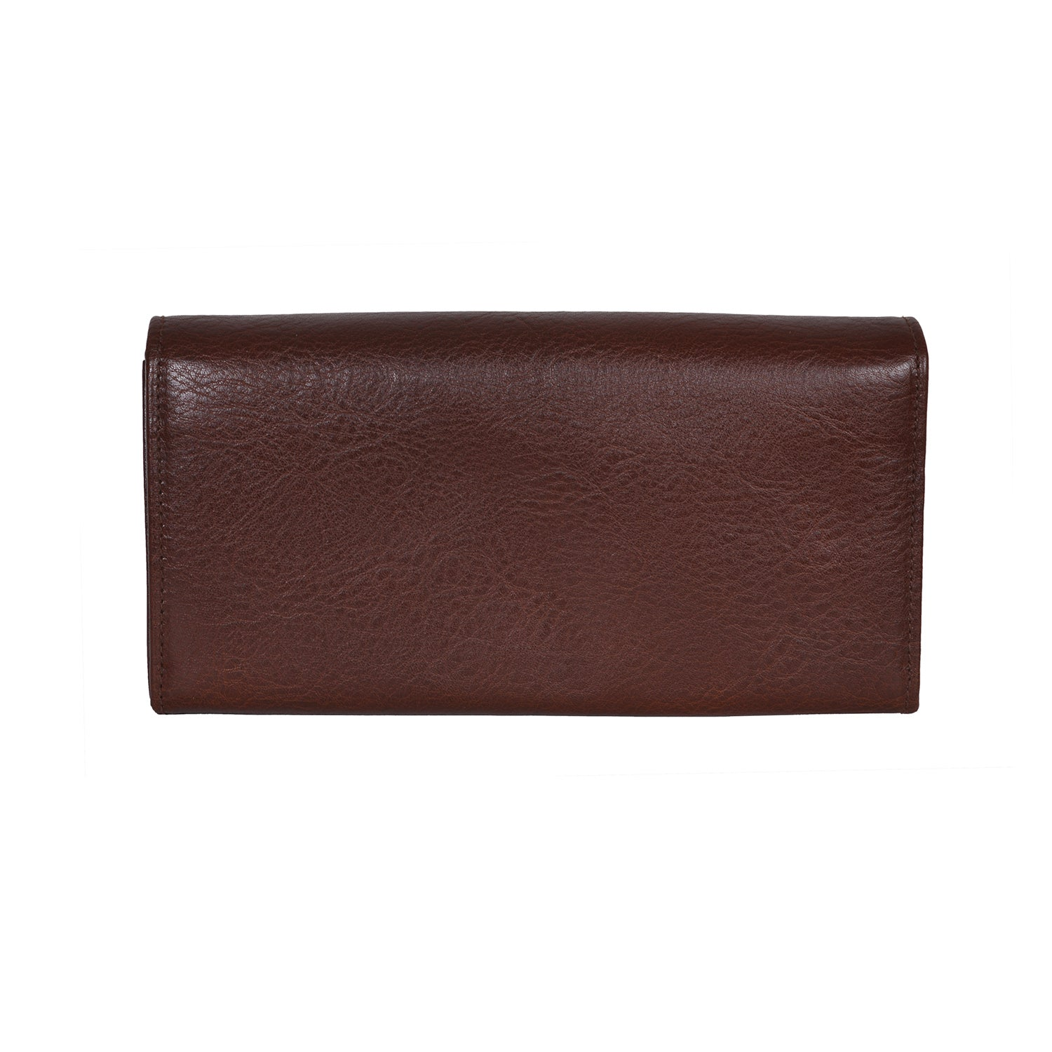 IL BISONTE WOMEN'S LONG WALLET IN BROWN  COWHIDE LEATHER