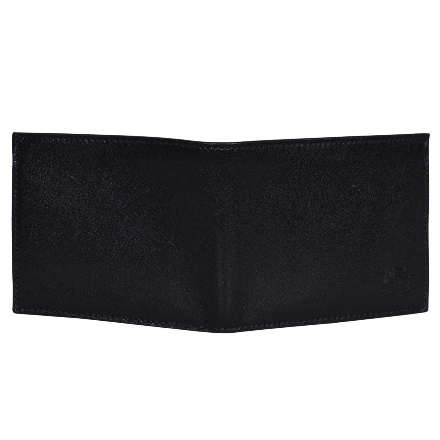 IL BISONTE MEN'S BI-FOLD WALLET IN BLACK COWHIDE LEATHER