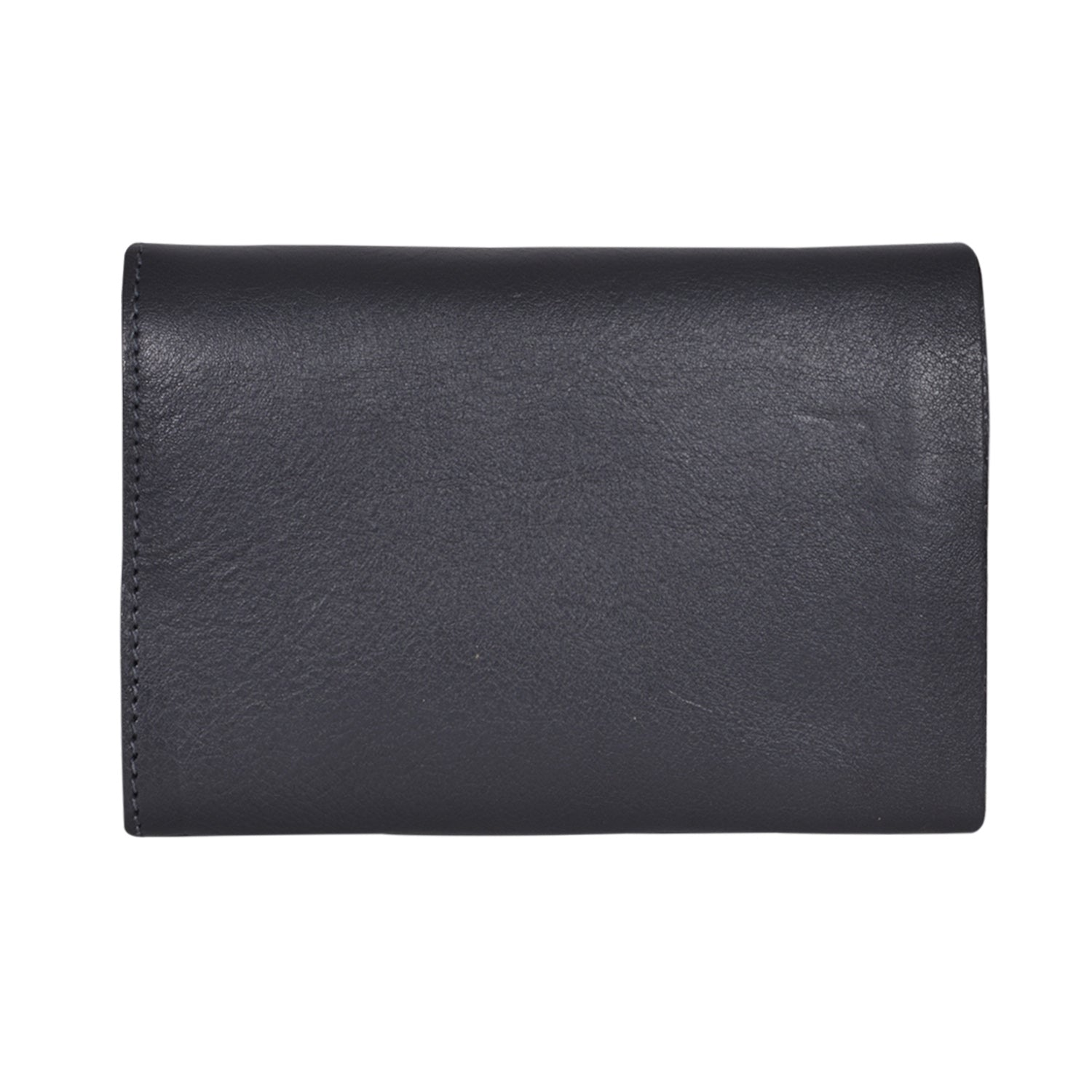 IL BISONTE UNISEX COMPACT FOLDING WALLET IN GREY  COWHIDE LEATHER