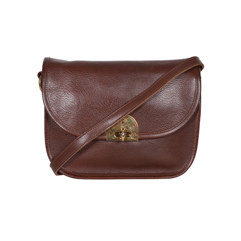 IL BISONTE CASUAL STYLE BROWN LEATHER SHOULDER BAG
