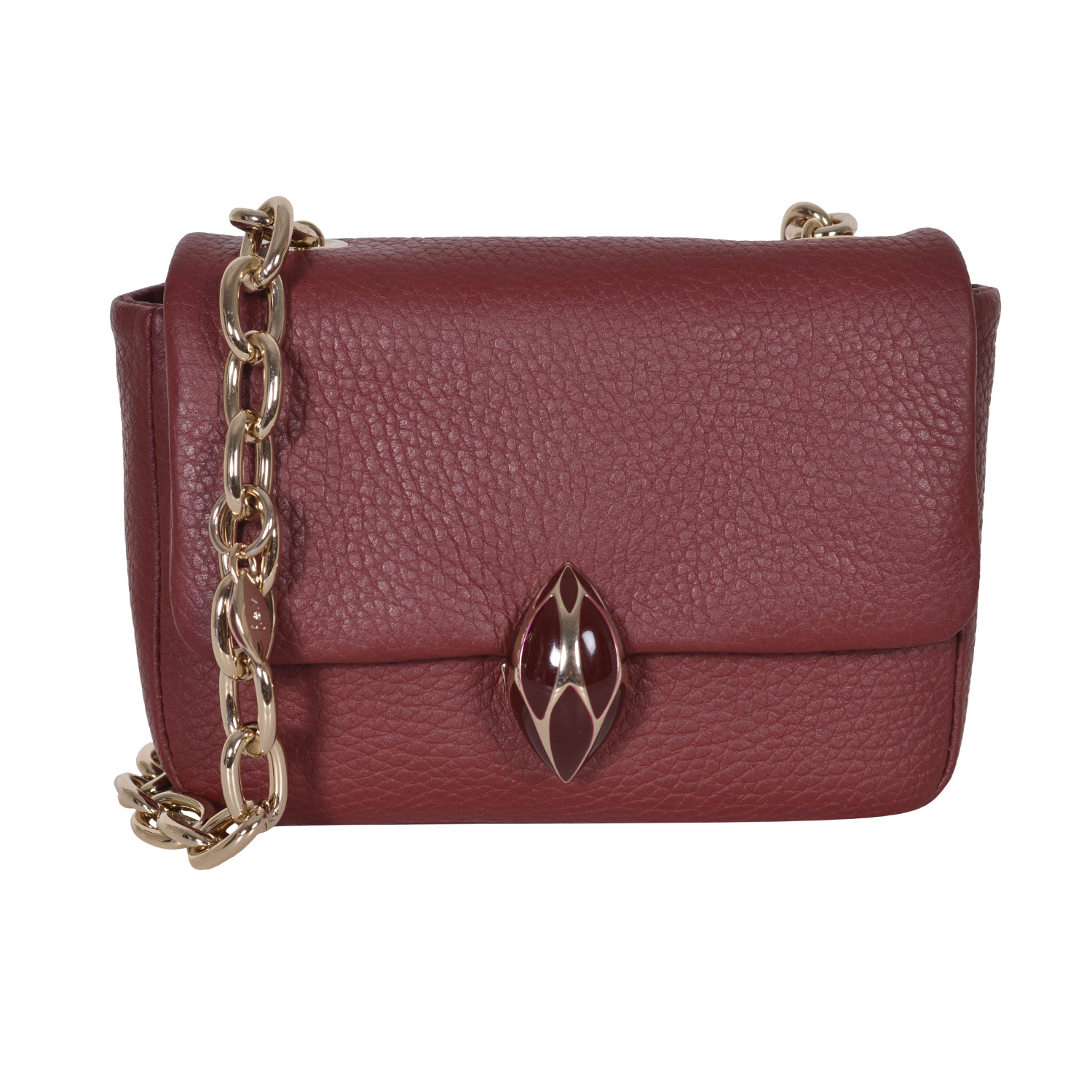 F.E.V BORDEAUX MINI LEATHER BELT BAG