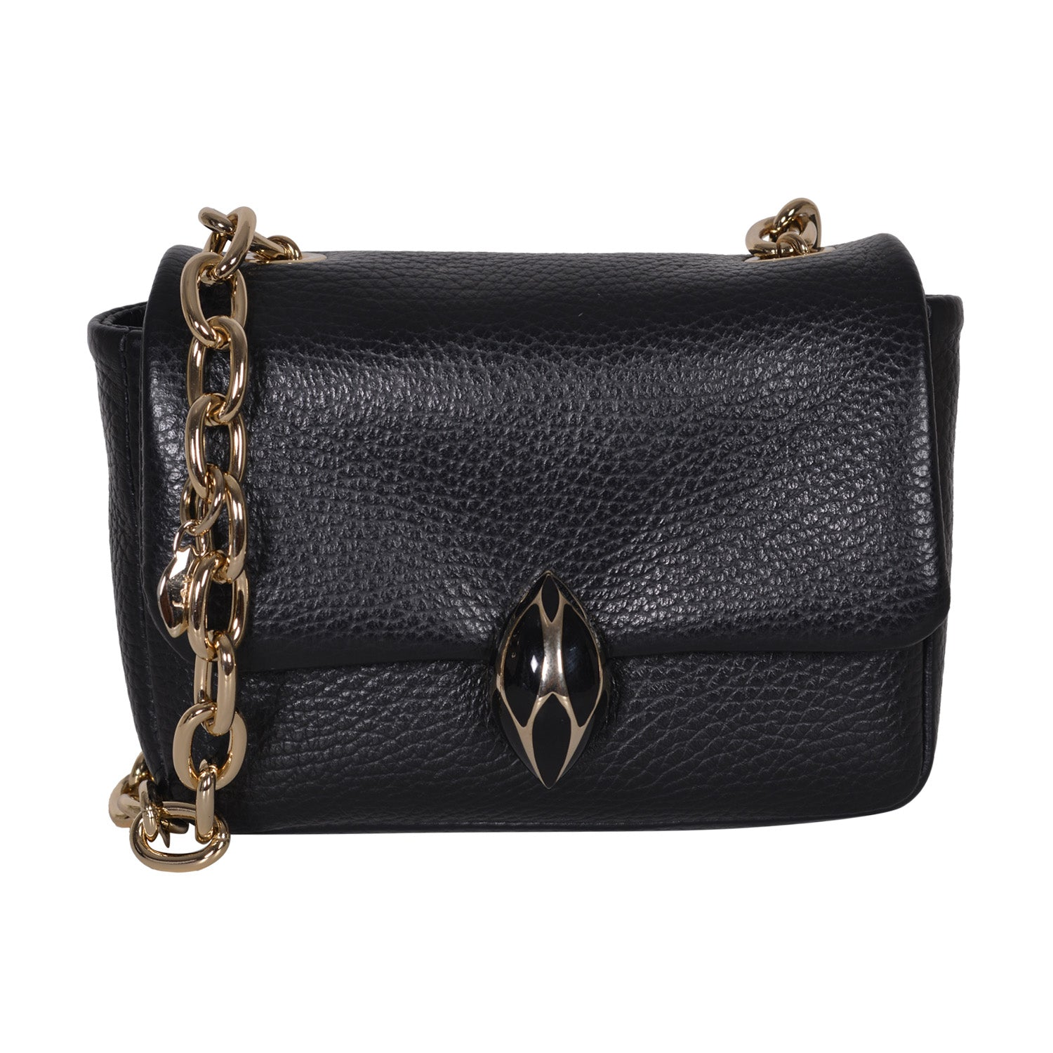 F.E.V BLACK MINI LEATHER BELT BAG