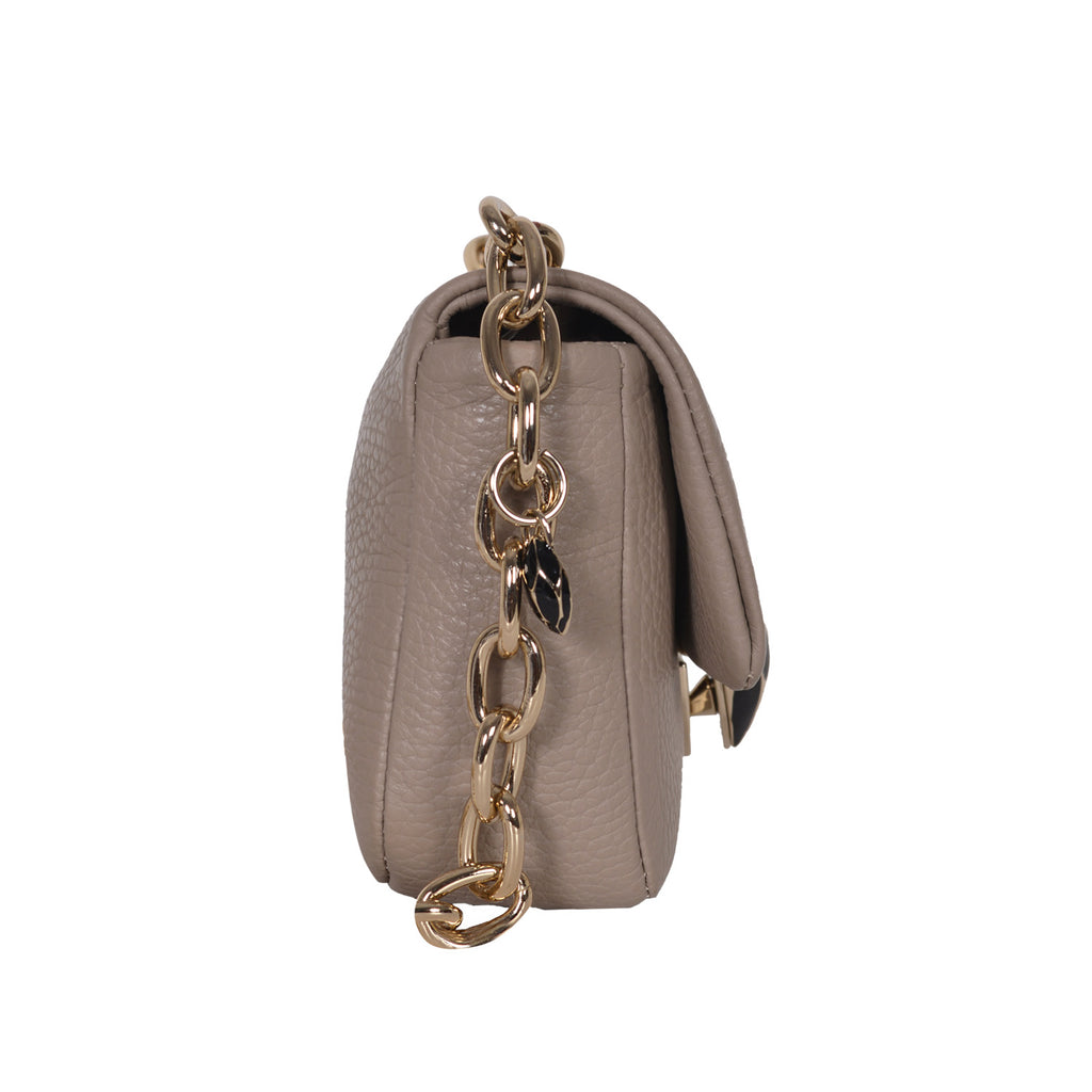 F.E.V TAUPE MINI LEATHER BELT BAG