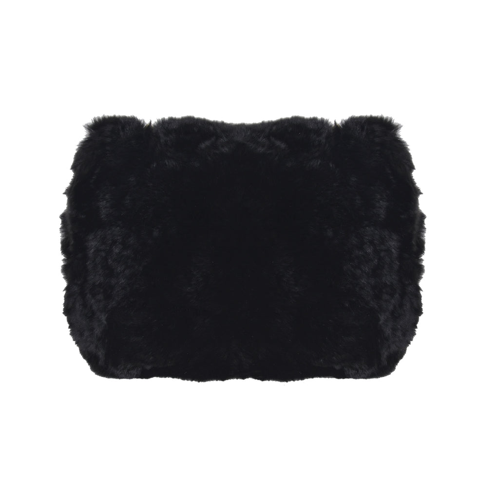 F.E.V BLACK MINI FUR BELT BAG