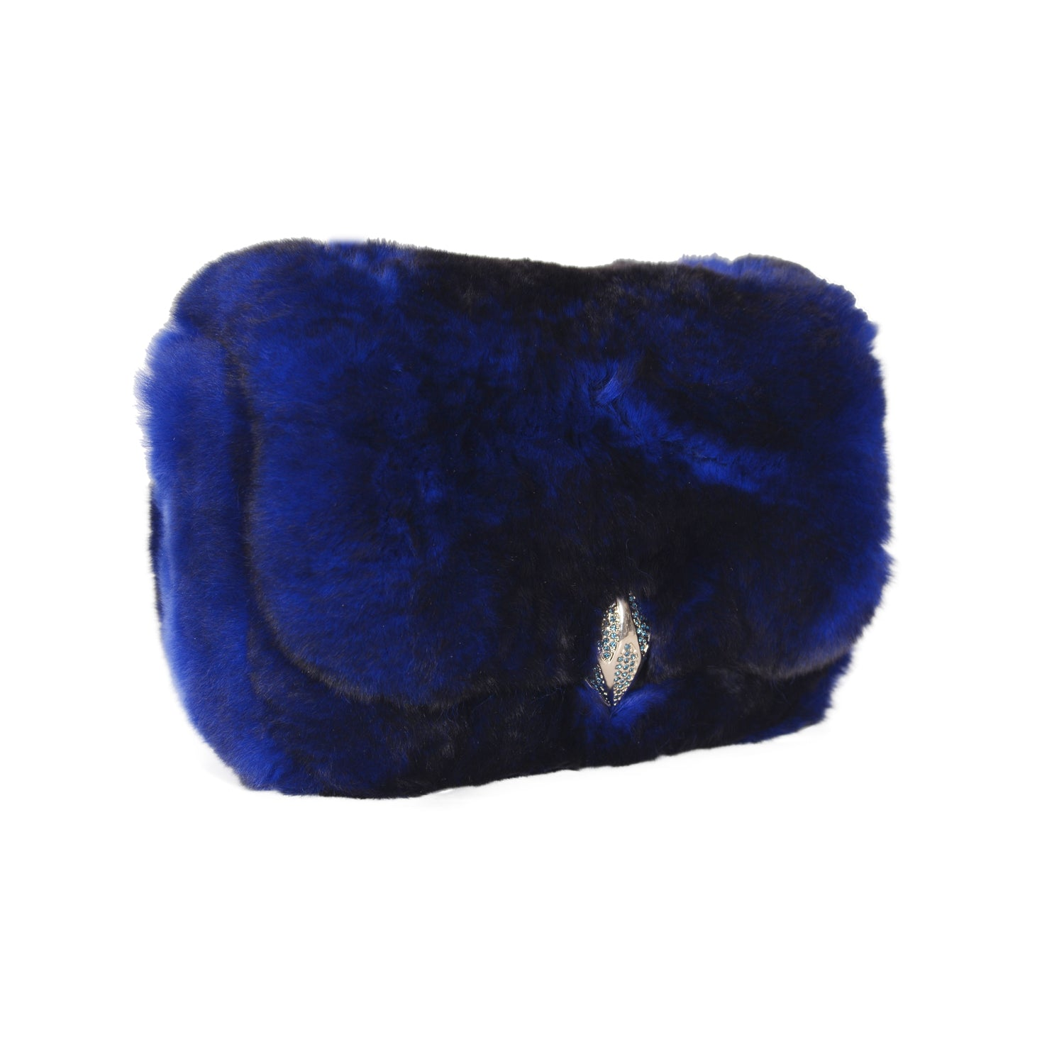 F.E.V BLUE MINI FUR BELT BAG