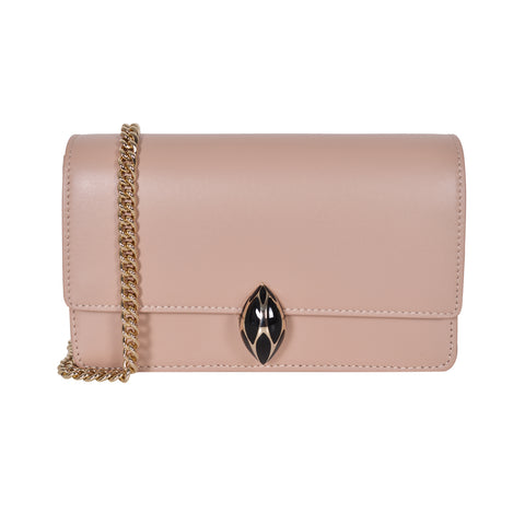 F.E.V  WOMEN'S PINK PLAIN CALF LEATHER  ST. MORTIZ CLUTCH