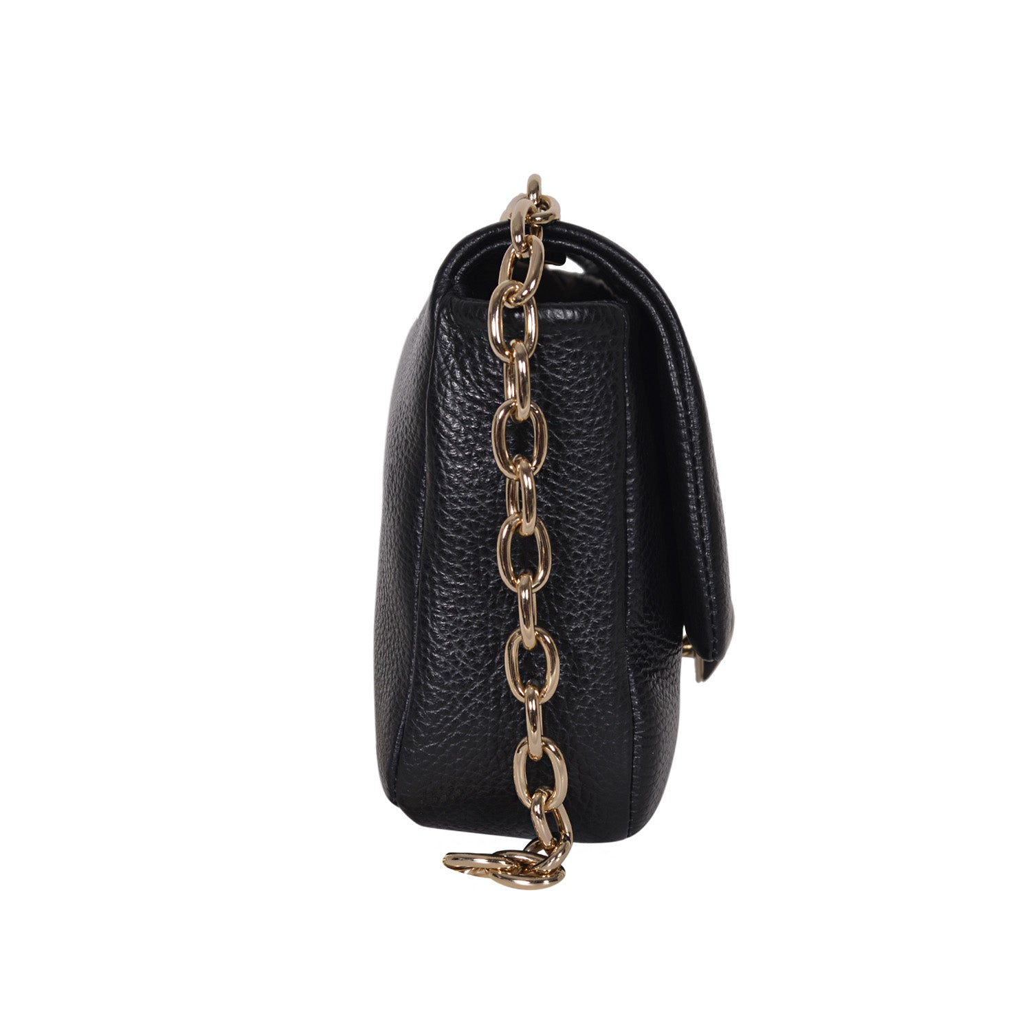 F.E.V BLACK LEATHER ASPEN ALL-PURPOSE BAG
