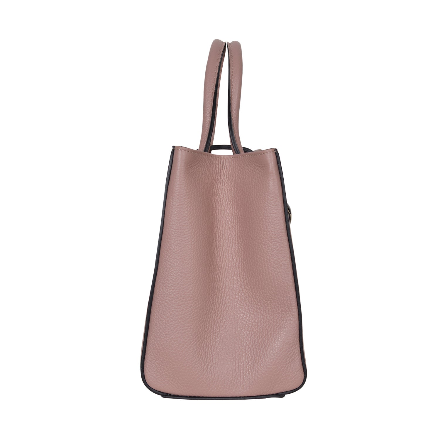 F.E.V  WOMEN'S LEATHER PINK CITY TOTE BAG