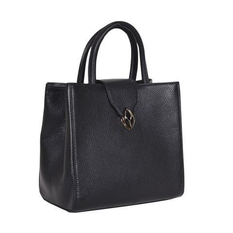 F.E.V  WOMEN'S BLACK  CITY TOTE BAG