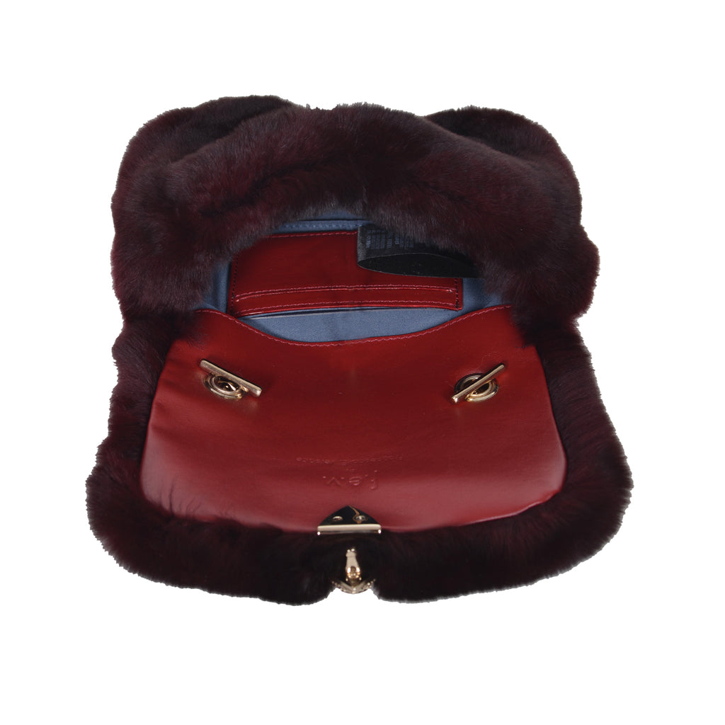 F.E.V BORDEAUX MINI FUR BELT BAG