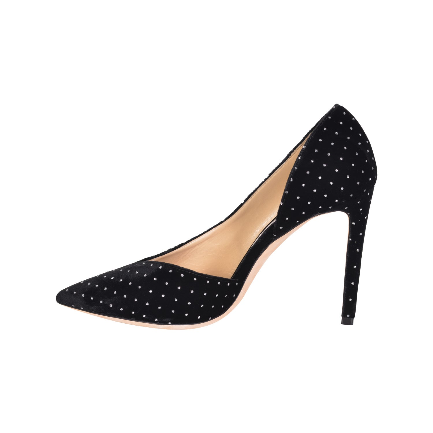 JIMMY CHOO Black Sophia 100 Velvet Crystal Pumps