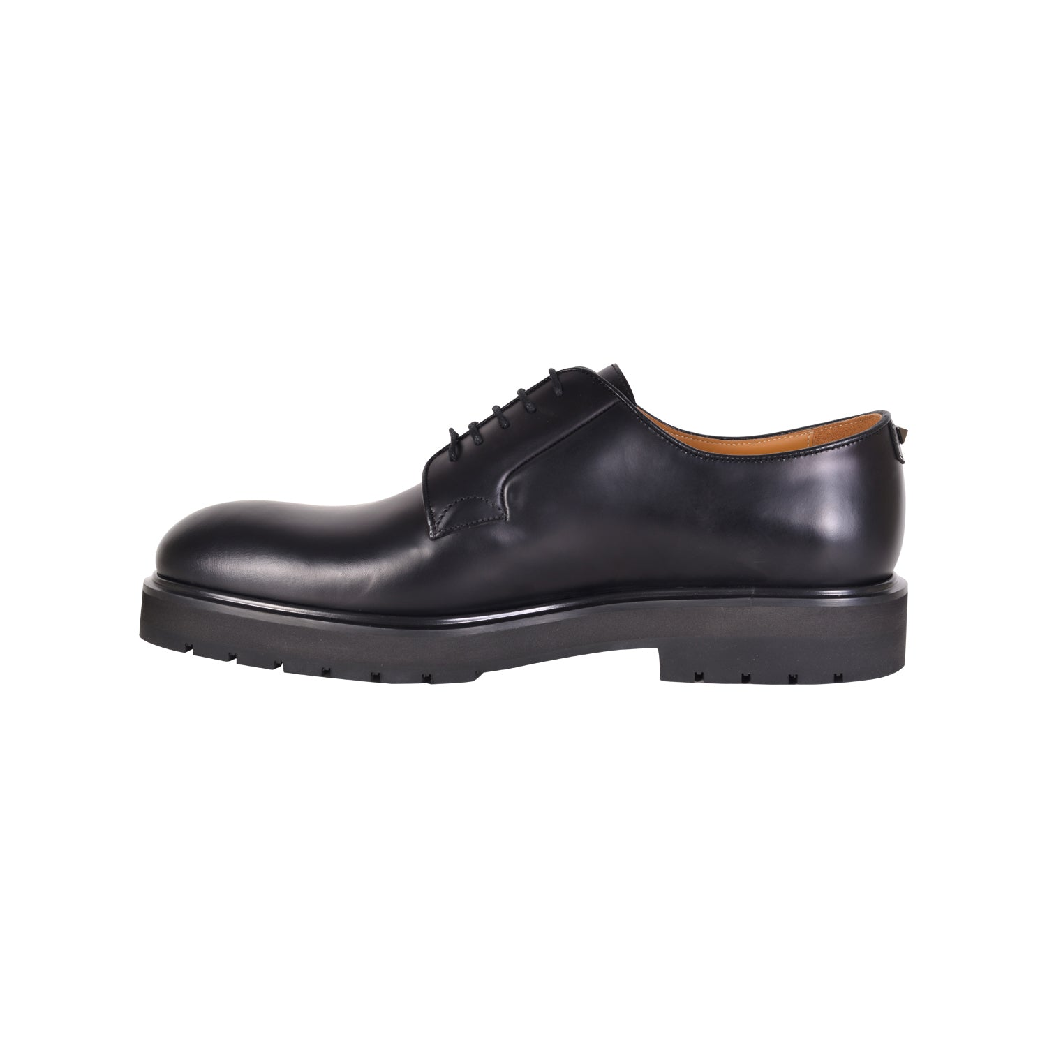 VALENTINO Black Derby Shoes with Applied Stud