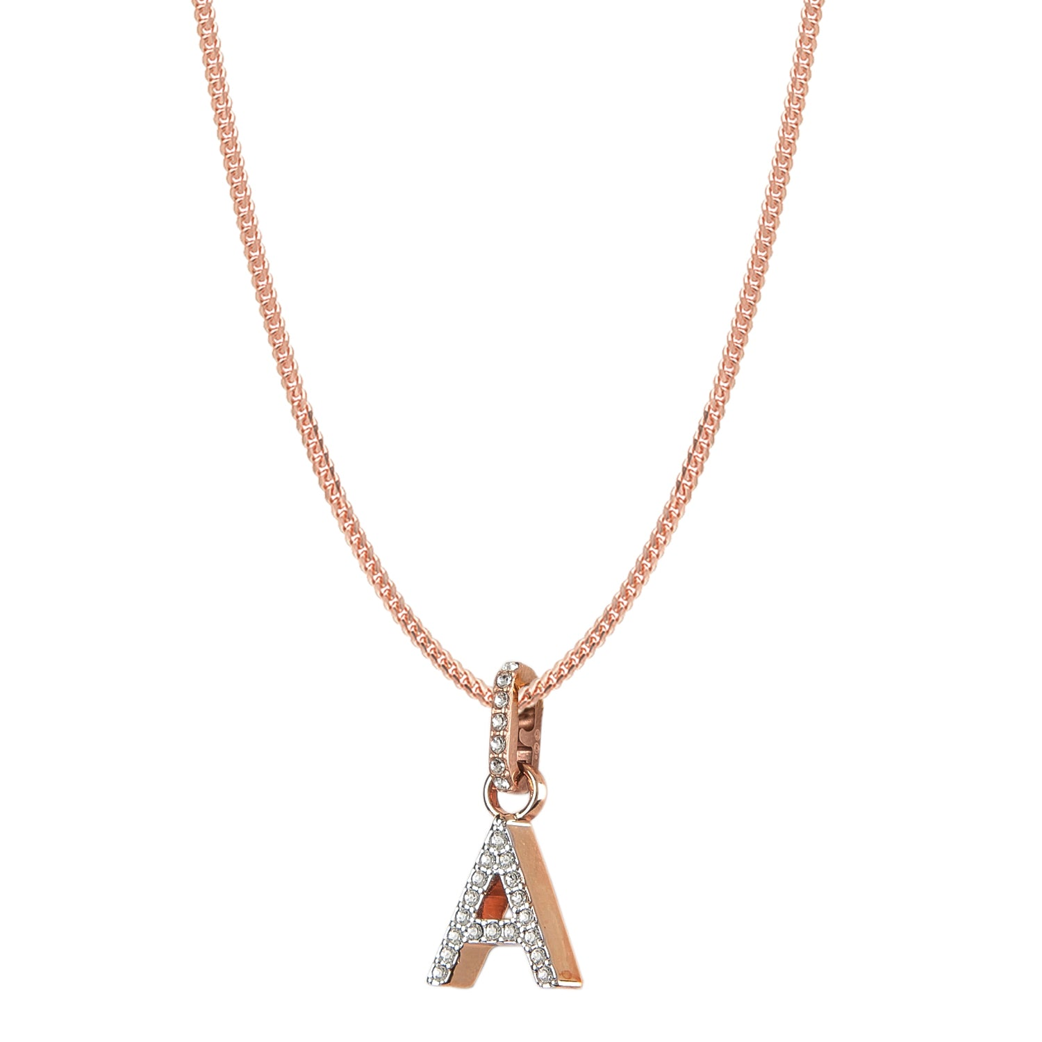 Swarovski Remix Collection A White Charm In Rose-Gold Tone Plated | Shop Luxury Swarovski Charm Online