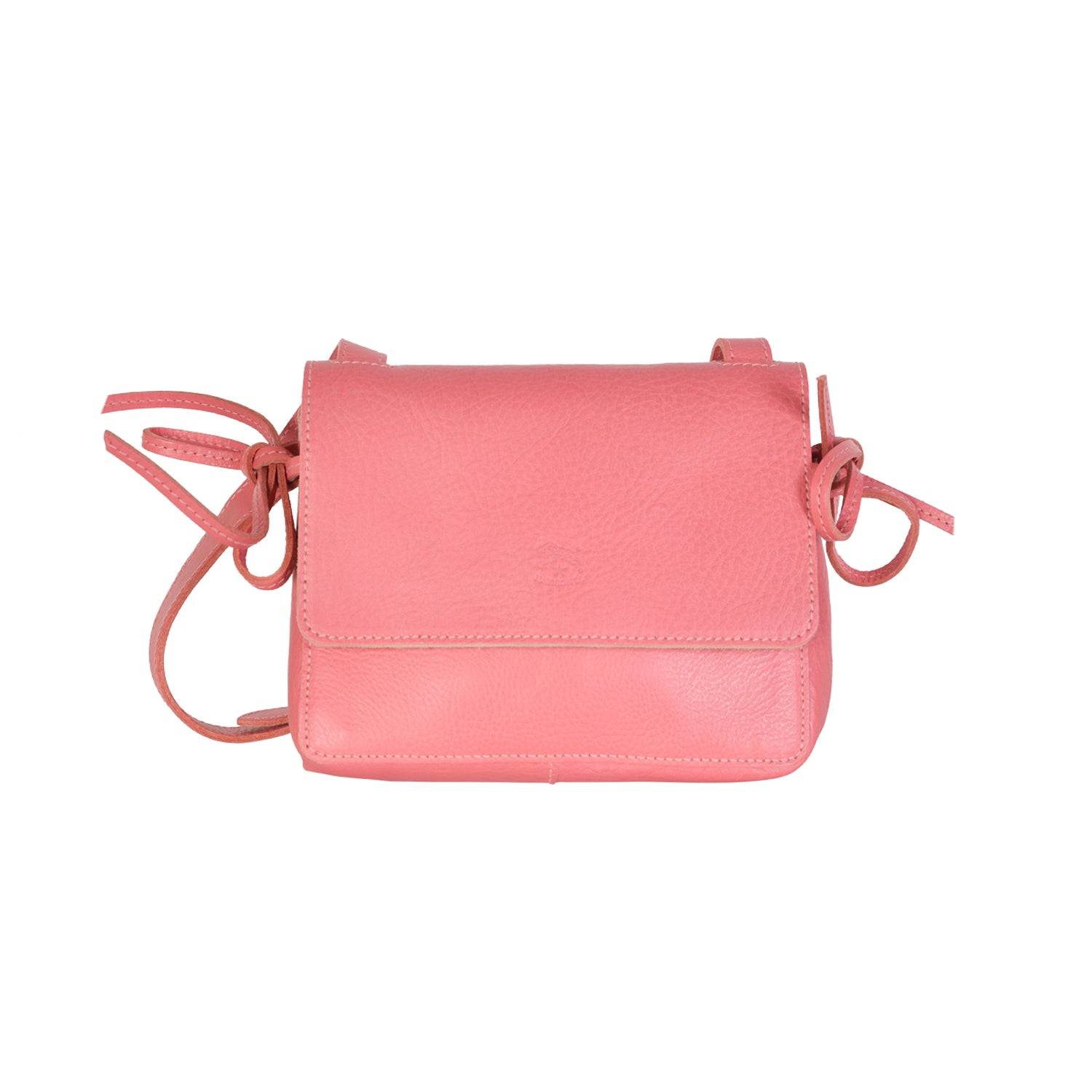 NEW IL BISONTE WOMAN'S SOFFIETTO COLLECTION CROSSBODY BAG IN PINK LEATHER