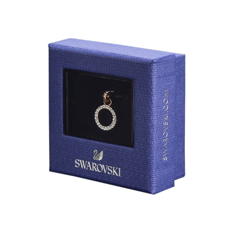 Swarovski Remix Collection O White Charm In Rose-Gold Tone Plated | Shop Luxury Swarovski Charm Online