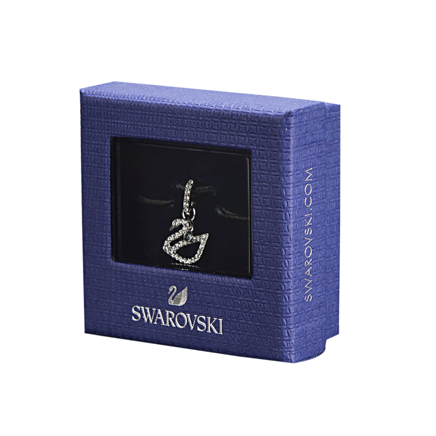 Swarovski Remix Collection White Swan Charm In Rhodium Plated | Shop Luxury Swarovski Charm Online