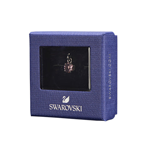 Swarovski Remix Collection Violet  June Charm In Rhodium Plated | Shop Luxury Swarovski Charm Online
