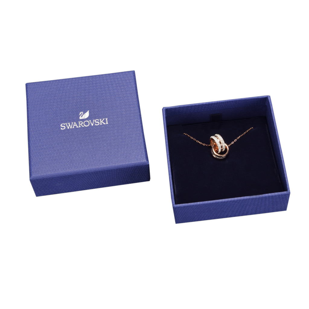 Swarovski Further Pendant White In Rose-Gold Tone Plated | Shop Luxury Swarovski Necklace Online