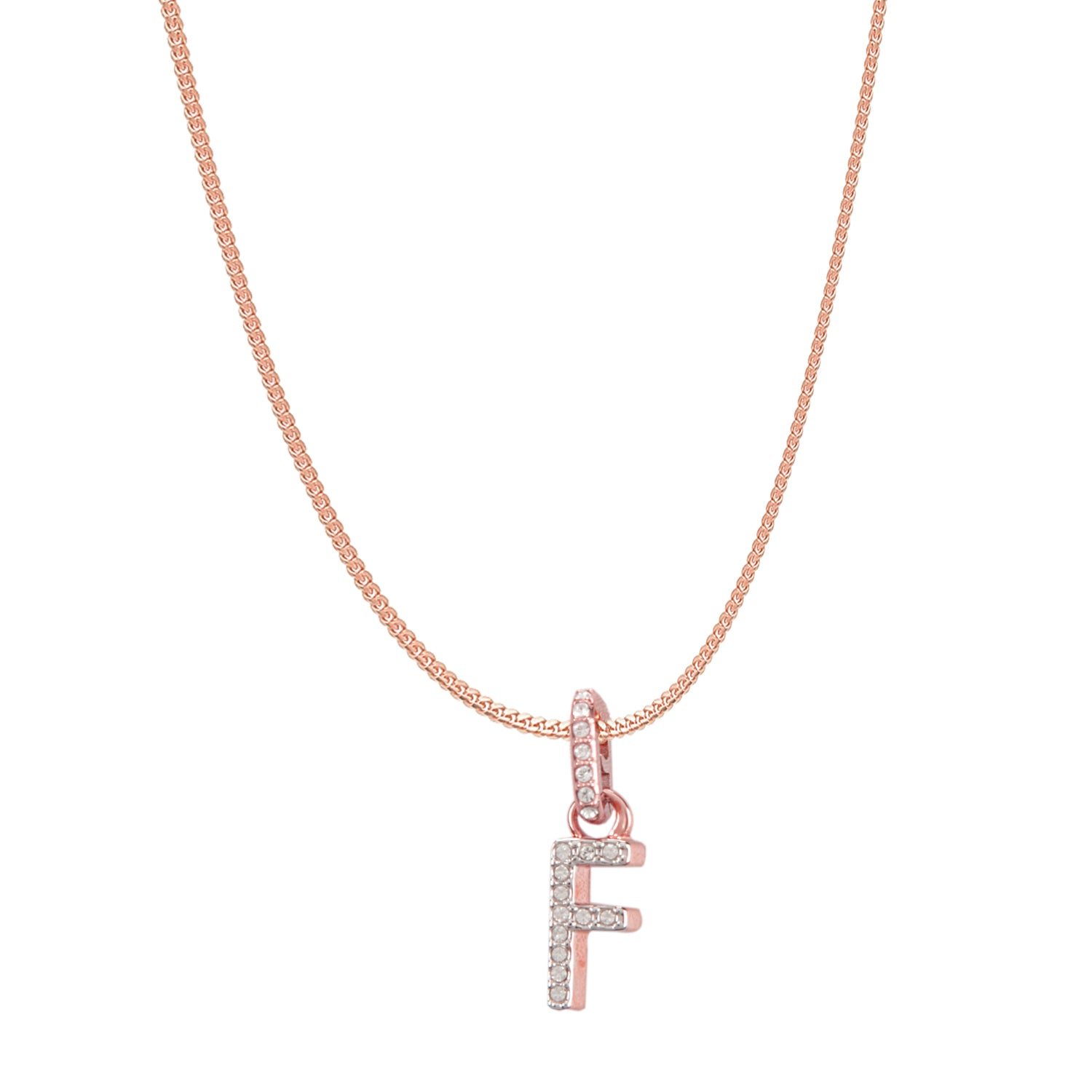 Swarovski Remix Collection F White Charm In Rose-Gold Tone Plated | Shop Luxury Swarovski Charm Online