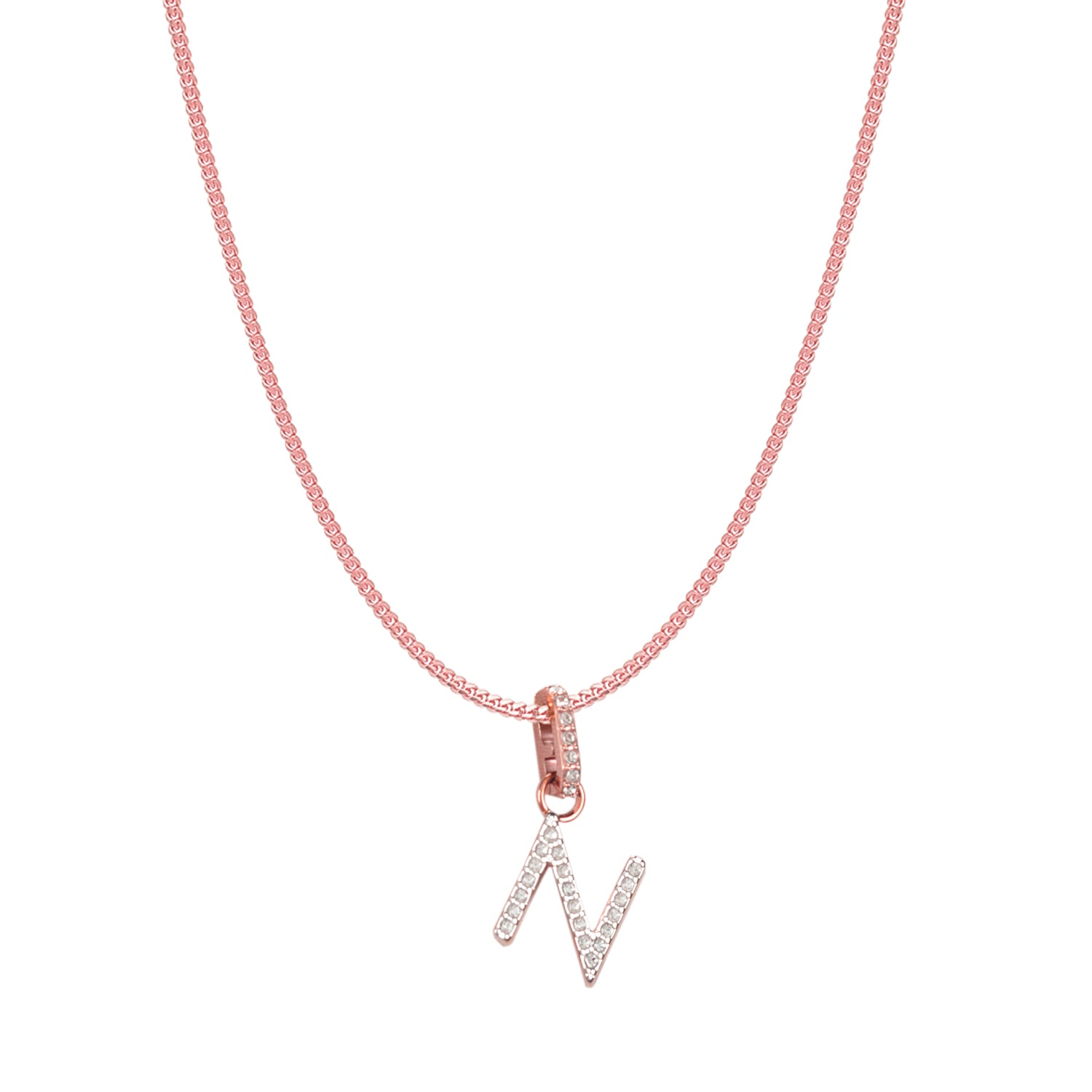 Swarovski Remix Collection N White Charm In Rose-Gold Tone Plated | Shop Luxury Swarovski Charm Online