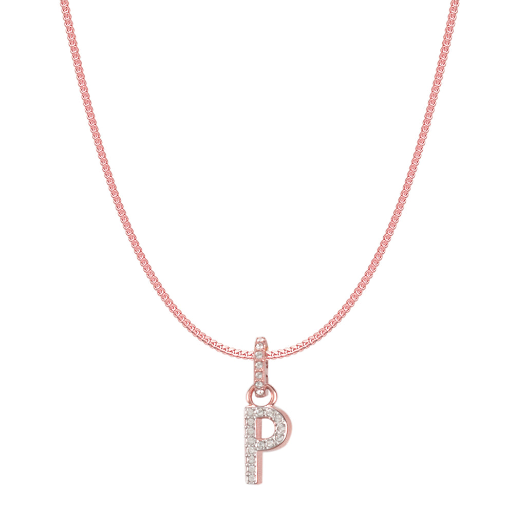 Swarovski Remix Collection P White Charm In Rose-Gold Tone Plated | Shop Luxury Swarovski Charm Online