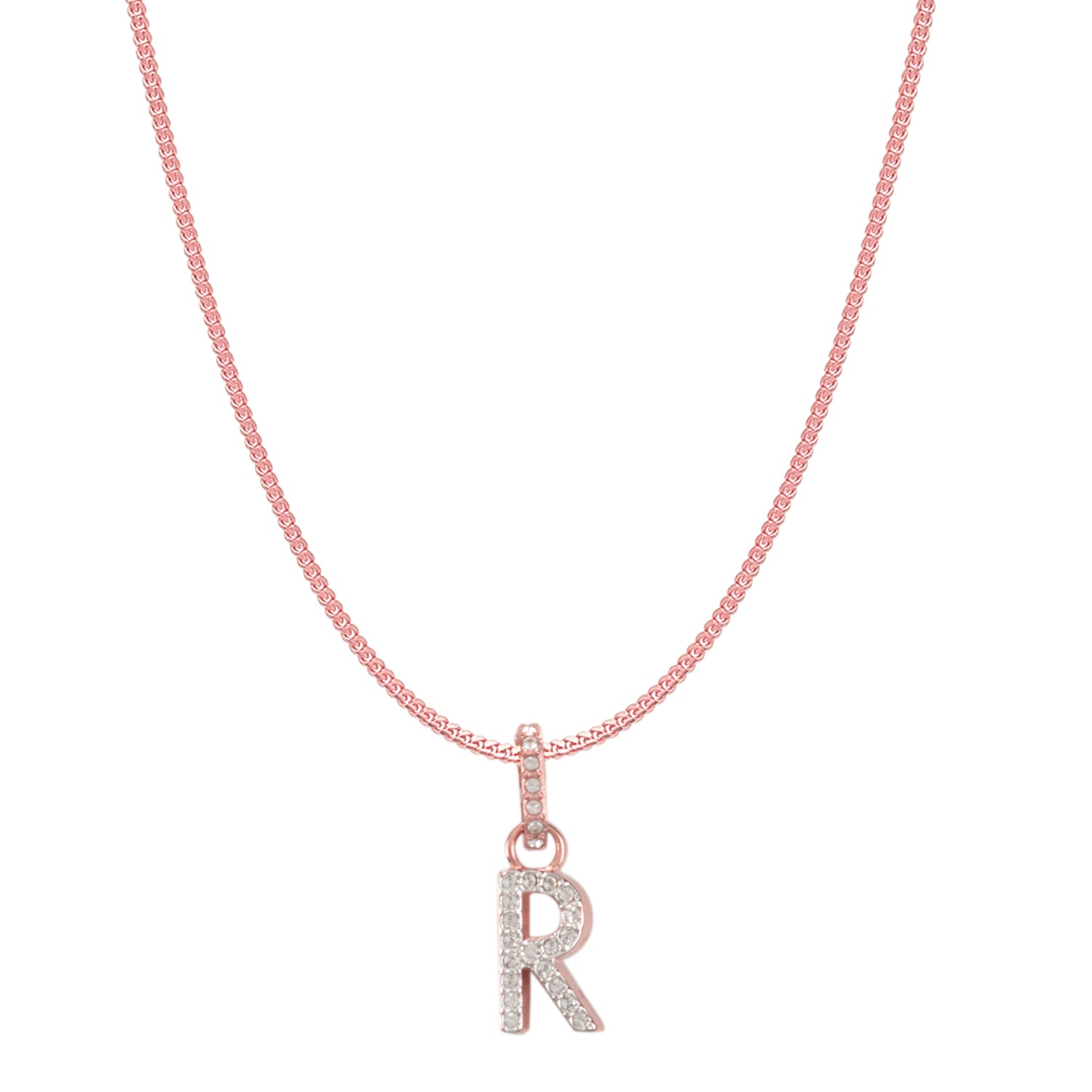 Swarovski Remix Collection R White Charm In Rose-Gold Tone Plated | Shop Luxury Swarovski Charm Online