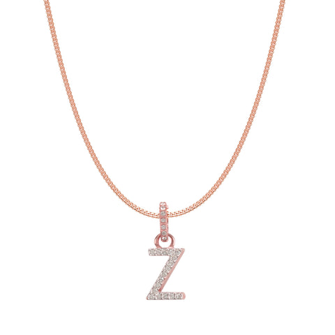SWAROVSKI REMIX COLLECTION Z WHITE CHARM IN ROSE-GOLD TONE PLATED