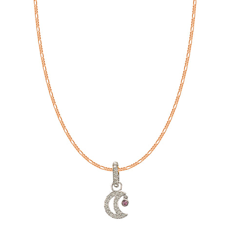 SWAROVSKI REMIX COLLECTION WHITE MOON CHARM IN RHODIUM PLATED