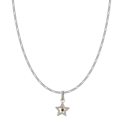 SWAROVSKI REMIX COLLECTION WHITE STAR CHARM IN RHODIUM PLATED