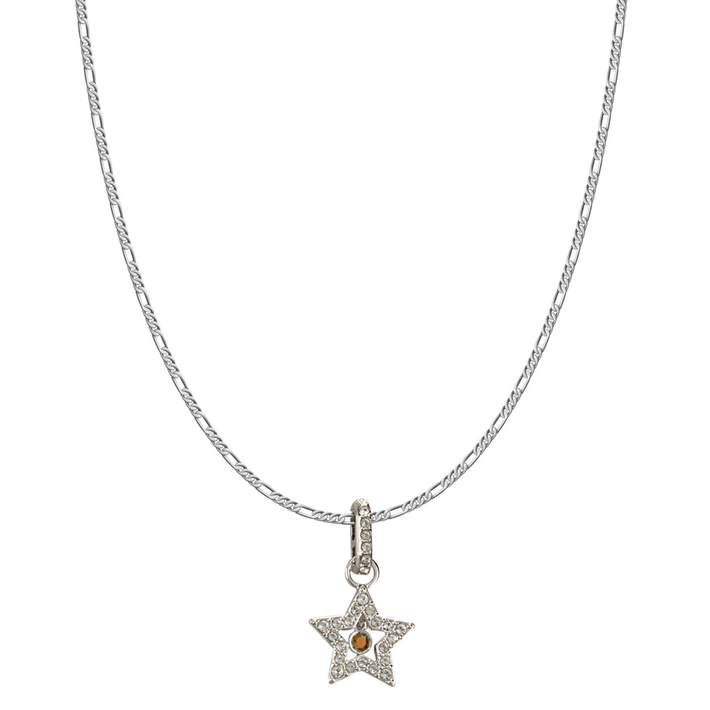 Swarovski Remix Collection White Star Charm In Rhodium Plated | Shop Luxury Swarovski Charm Online