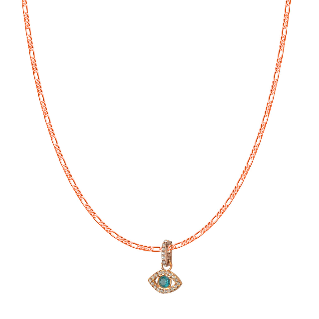 Swarovski Remix Collection Multi-Colored Evil Eye Charm In Rose-Gold Tone Plated | Shop Luxury Swarovski Charm Online