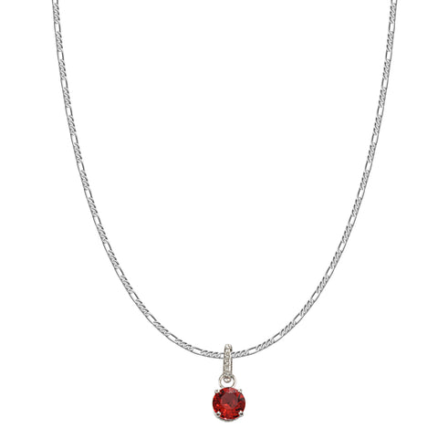 SWAROVSKI REMIX COLLECTION RED JANUARY CHARM IN RHODIUM PLATED