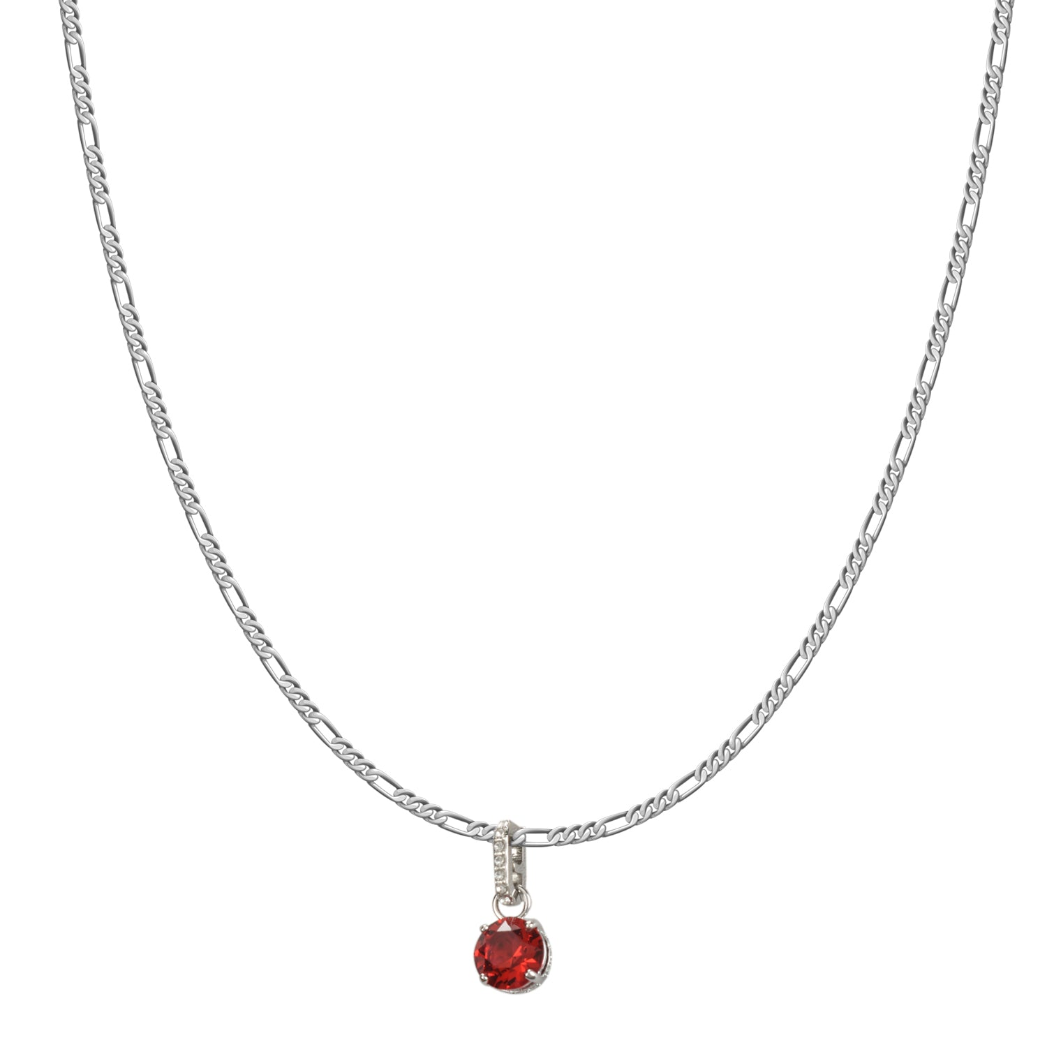 Swarovski Remix Collection Red January Charm In Rhodium Plated | Shop Luxury Swarovski Charm Online