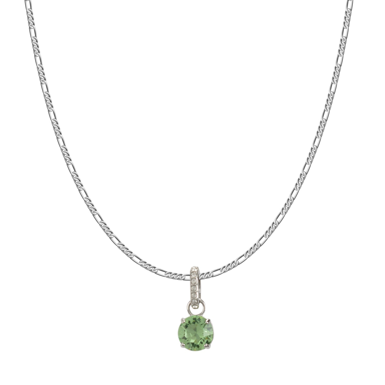 Swarovski Remix Collection Light Green  August Charm In Rhodium Plated | Shop Luxury Swarovski Charm Online