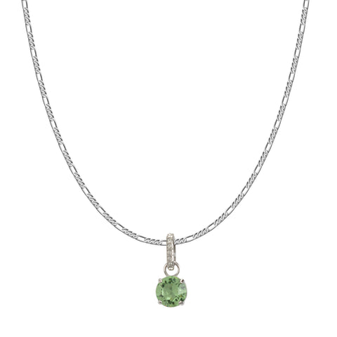 SWAROVSKI REMIX COLLECTION LIGHT GREEN  AUGUST CHARM IN RHODIUM PLATED
