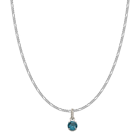 SWAROVSKI REMIX COLLECTION BLUE DECEMBER CHARM IN RHODIUM PLATED