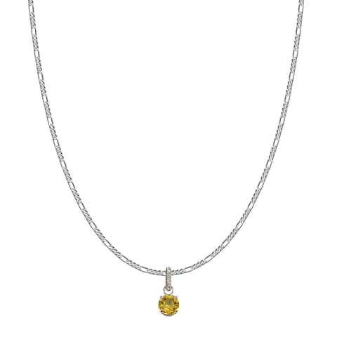 SWAROVSKI REMIX COLLECTION YELLOW NOVEMBER CHARM IN RHODIUM PLATED