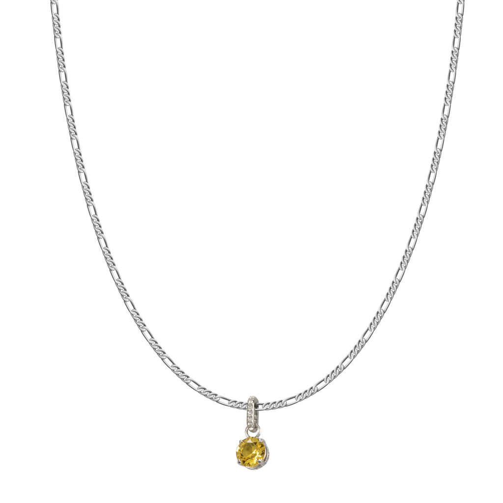 Swarovski Remix Collection Yellow November Charm In Rhodium Plated | Shop Luxury Swarovski Charm Online