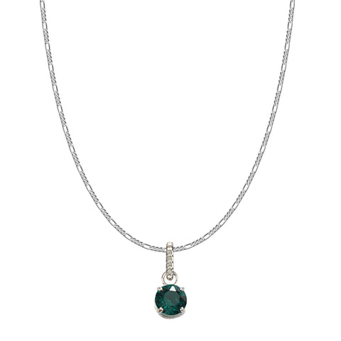 SWAROVSKI REMIX COLLECTION GREEN MAY CHARM IN RHODIUM PLATED