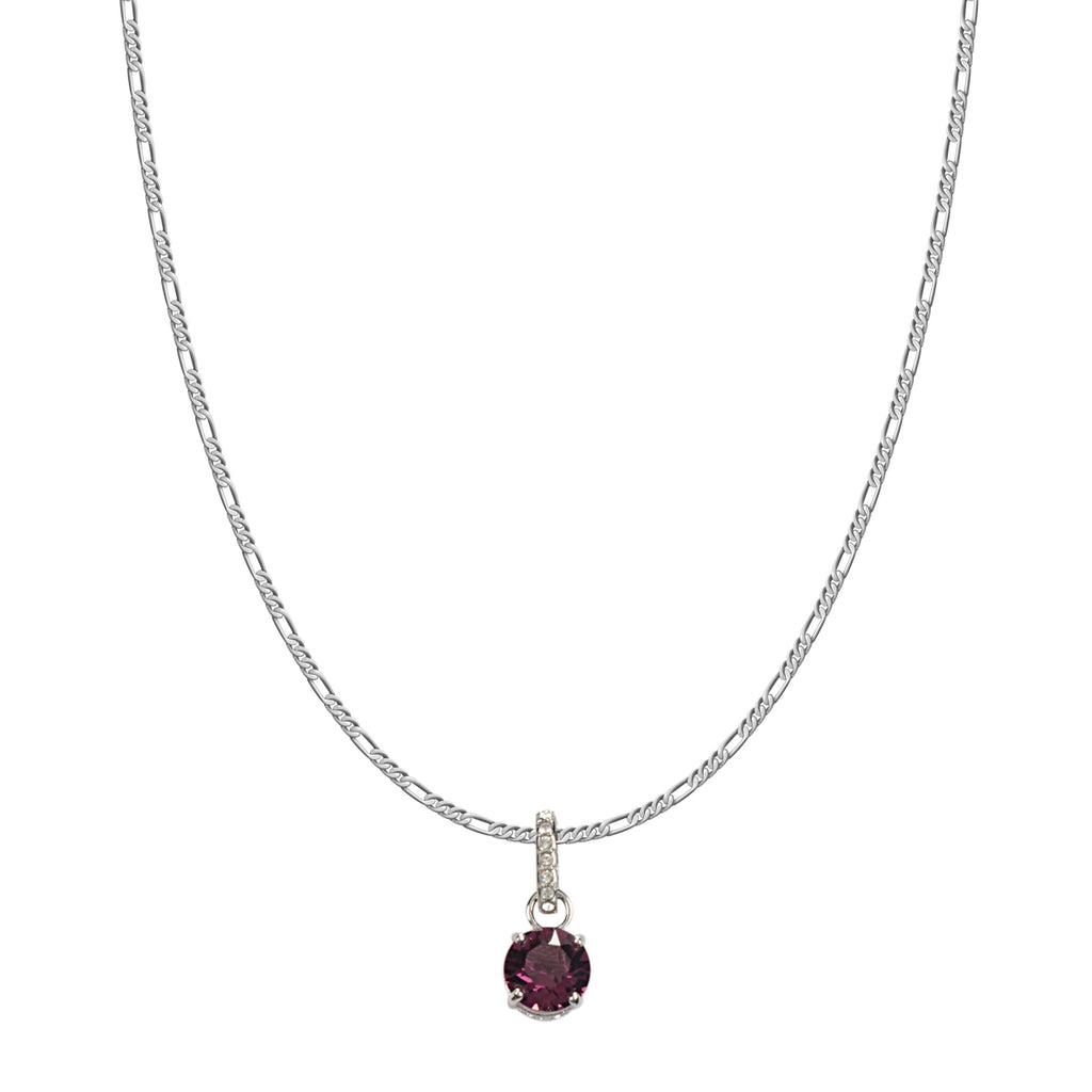SWAROVSKI REMIX COLLECTION PURPLE FEBRUARY CHARM IN RHODIUM PLATED