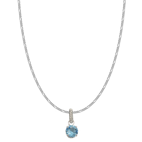 SWAROVSKI REMIX COLLECTION AQUA MARCH CHARM IN RHODIUM PLATED