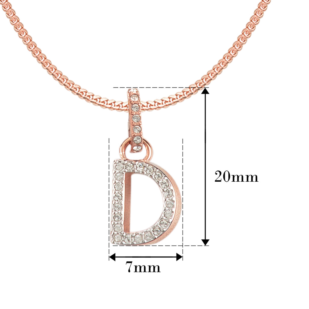 Swarovski Remix Collection D White Charm In Rose-Gold Tone Plated | Shop Luxury Swarovski Charm Online