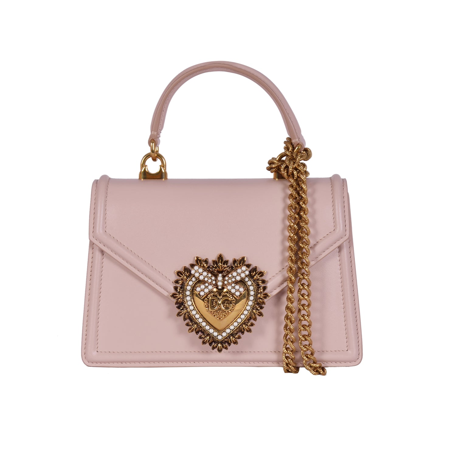 DOLCE & GABBANA Pink Devotion Medium Flap Bag