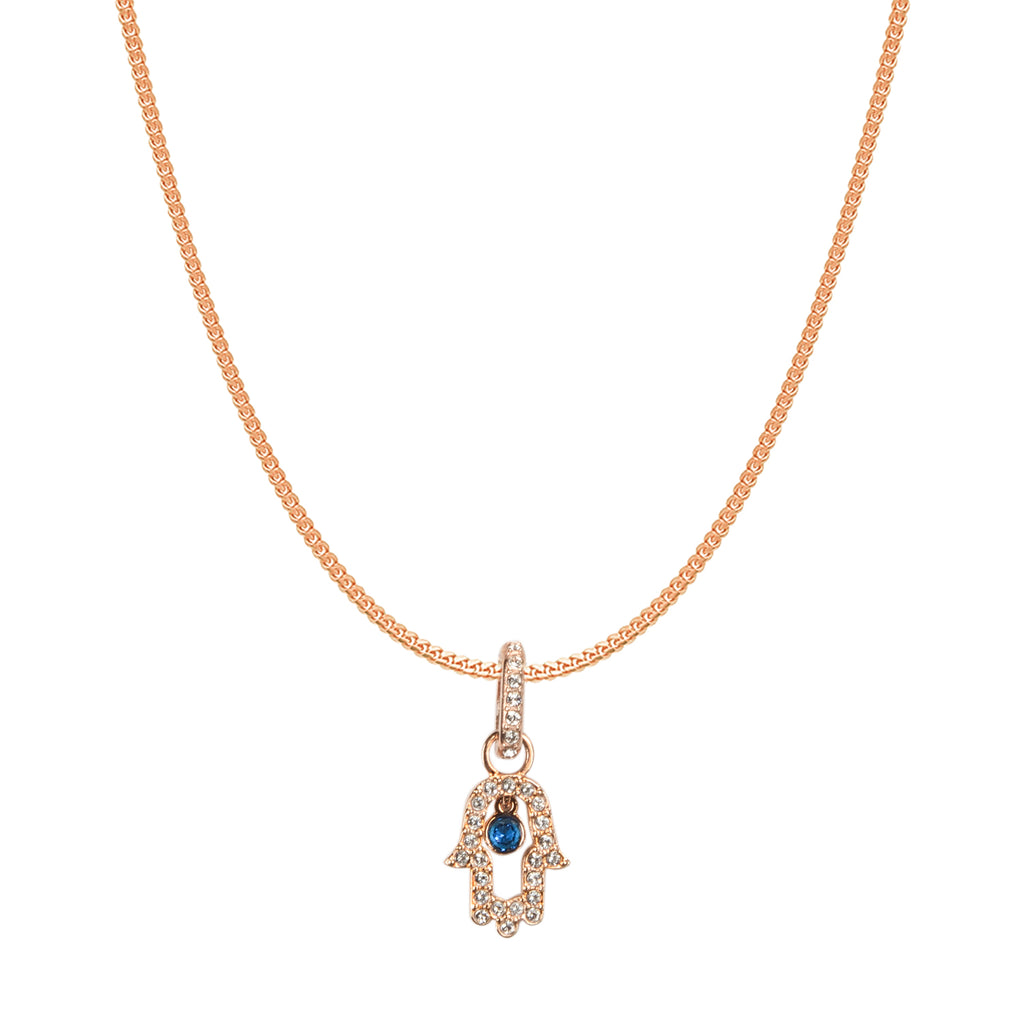 Swarovski Remix Collection Multi-Colored Hamsa Hand Charm In Rose-Gold Tone Plated | Shop Luxury Swarovski Charm Online