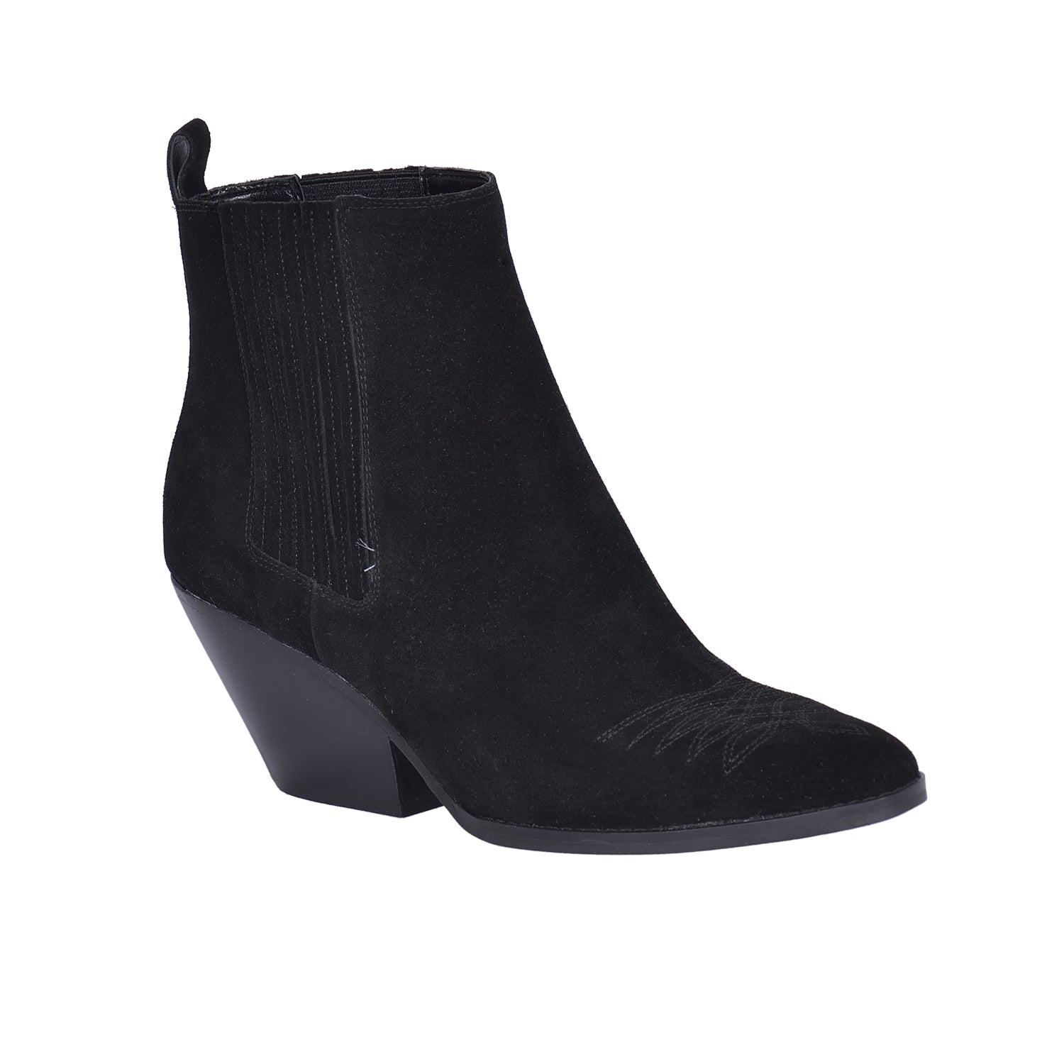 MICHAEL KORS Black Sinclair Heeled Ankle Boots